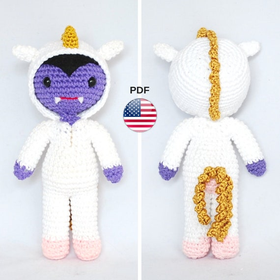 Tutorial amigurumi - Broche duendes | Unicornio crochet, Amigurumi ... | 570x570