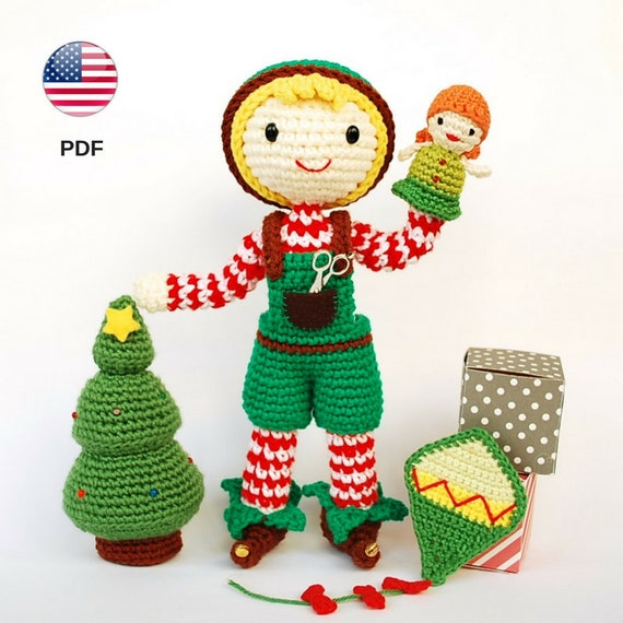 Häkeln Sie Santa's Helfer Muster, Amigurumi Elf, Xmas Pattern ... | 570x570