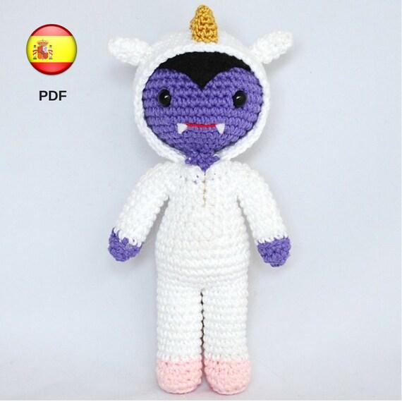 Patrón amigurumi vampiro unicornio monstruo juguete muñeco   Etsy