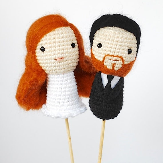 Wedding Dolls - Amigurumi Crochet Bride and Groom by Sylemn on ... | 570x570