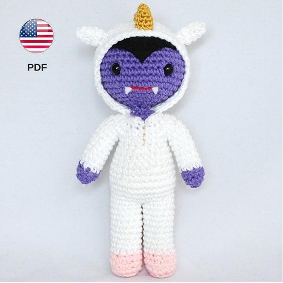 Patrón amigurumi vampiro unicornio monstruo juguete muñeco | Etsy