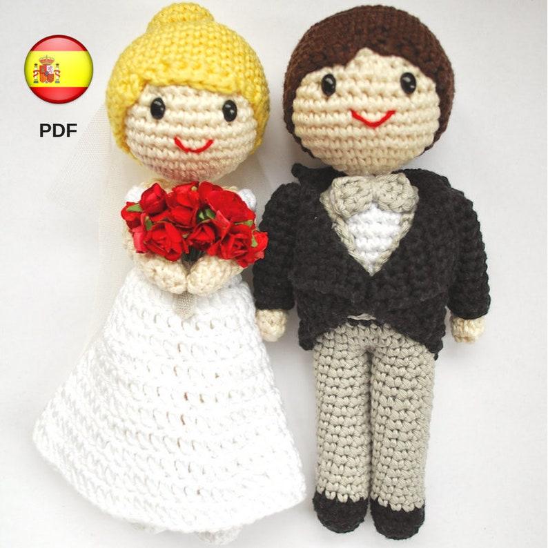 patrón de amigurumi: pareja de novios para tarta nupcial. | etsy