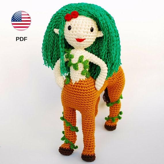 Amigurumi Centaur Pdf Pattern Fantasy Creature Crochet Doll Etsy