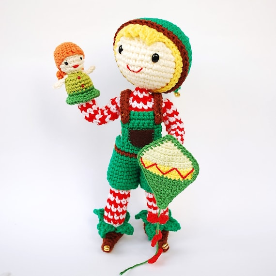 Amigurumi pattern: crochet Christmas Elf. Santa\'s helper | Etsy