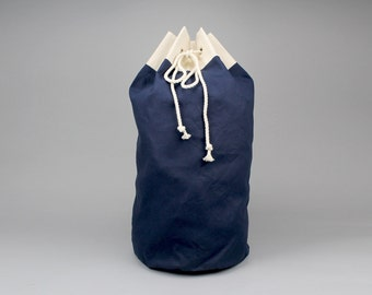 ff17980c1a2e The Arnold Laundry Duffle    Navy Blue Canvas Laundry or Duffle Bag with  Rope Drawstring and Carrying Handle