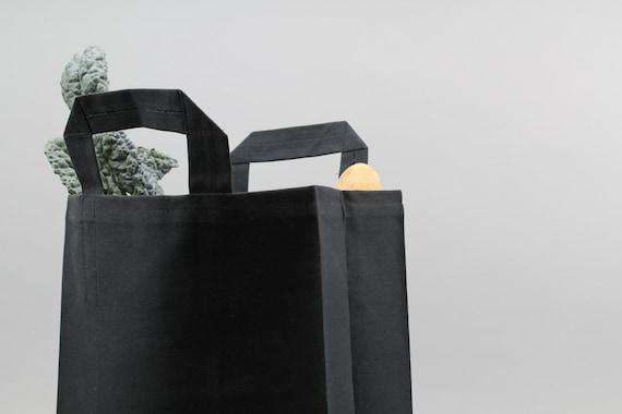 Negro Etsy Reutilizable Encerado Compras Bolsa Mercado La Lona De CwBt8q