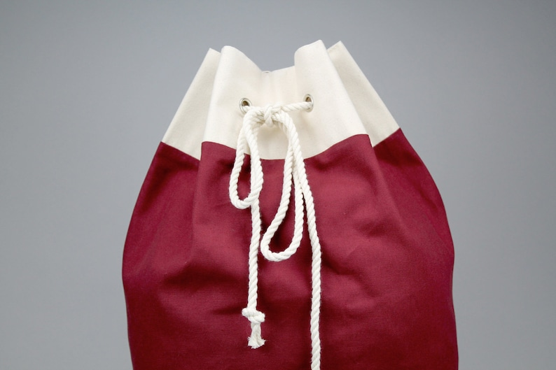 ad244fd8e05d The Arnold Laundry Duffle    Burgundy Red Canvas Laundry or Duffle Bag with  Rope... The Arnold Laundry Duffle    Burgundy Red Canvas Laundry or Duffle  Bag ...
