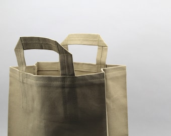 The Market Bag // Moss Green UNWAXED Reusable Canvas Shopping Bag, eco-friendly and stylish