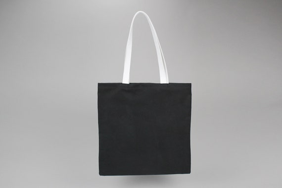 11f9547c116 The Standard Tote // Black and White WAXED Canvas Tote Bag