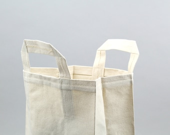 The Market Bag // Natural UNWAXED Reusable Canvas Shopping Bag, eco-friendly and stylish