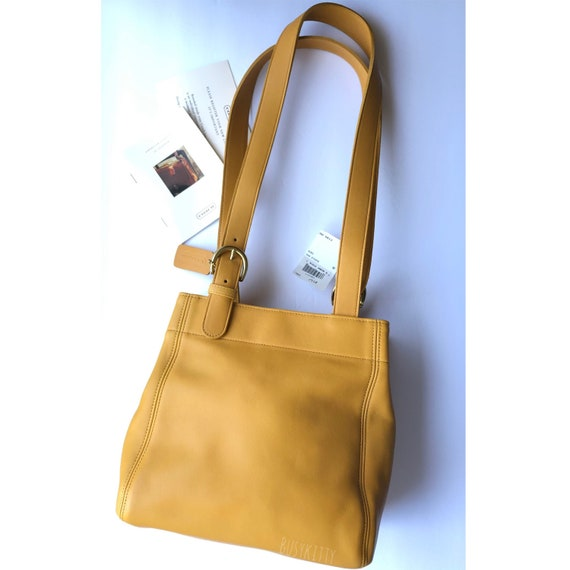 NWT Vintage Coach Yellow Leather Soho Collection B