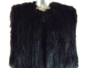 Vintage Structured Fur Cape