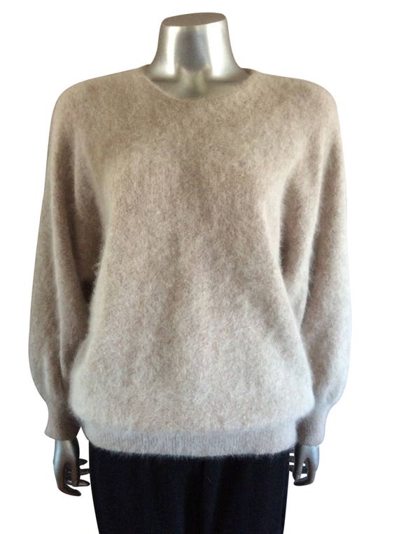 Vintage Knit Dusty Pink Sweater - image 3