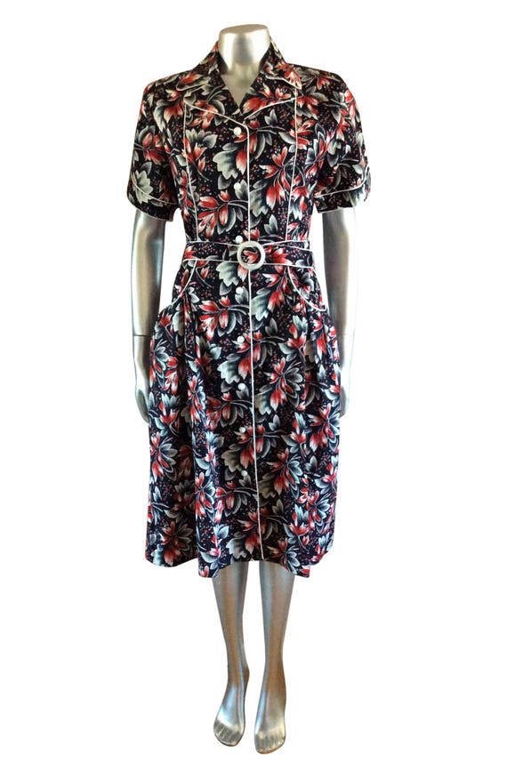 Vintage Floral Russian Inspired Dress