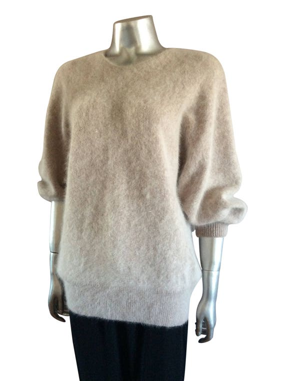 Vintage Knit Dusty Pink Sweater - image 2