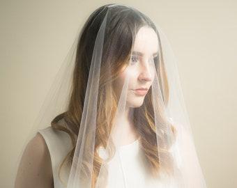 Sheer Drop Illusion Wedding Veil