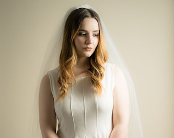 Dramatic Extra Wide Wedding Veil Plain Silver Comb (Cathedral, Chapel, Finger Tip, Elbow, High Volume, Illusion Tulle Bridal Veil)