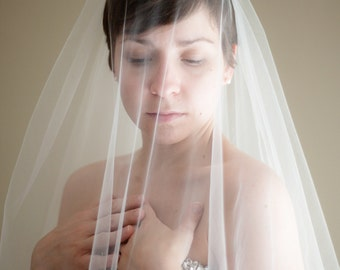 Double Layer Illusion Tulle Blusher Wedding Veil (Bridal Veil, Traditional Veil, Cathedral, Elbow, Finger Tip, Chapel)