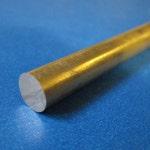 """1/8"""" (.125) Brass Round Rod Bar, Alloy 360"""