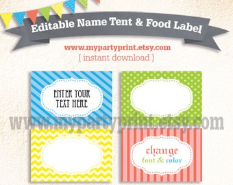 Table Tent Card Etsy