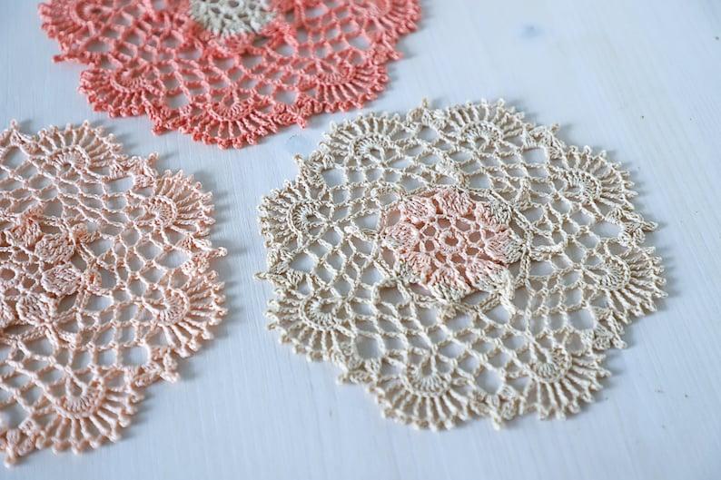 PDF Pumpkin Spice Latte doily crochet pattern by Olga image 0