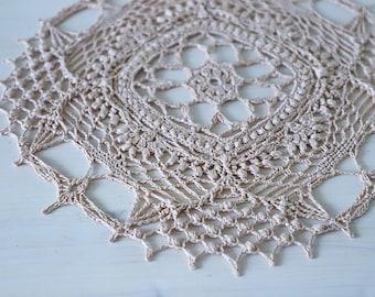 Vintage beige crochet doily designed by Olga Shalaeva gull 808 34 cm cotton crochet decor doilies runner table centerpiece shabby hygge gift