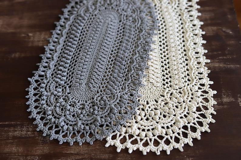 PDF Donna Doily Pattern by gull808 crochet doily tablecloth oval doily  pattern tutorial crocheting instruction handmade vintage table runner