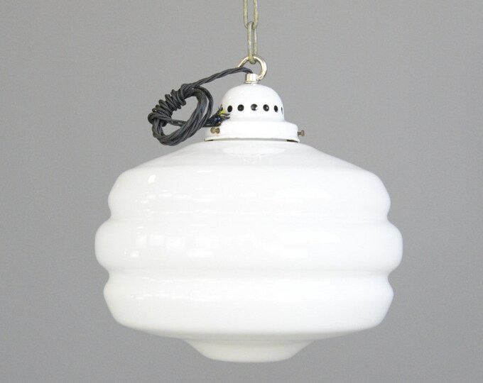 Beehive Opaline Light Circa 1930s