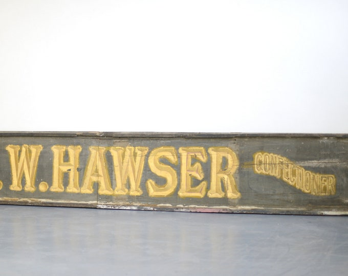 Large V Cut Gold Gilt London Shop Sign Circa 1840