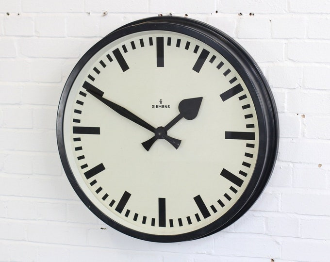 Large Factory Clock By Siemens Circa 1940s