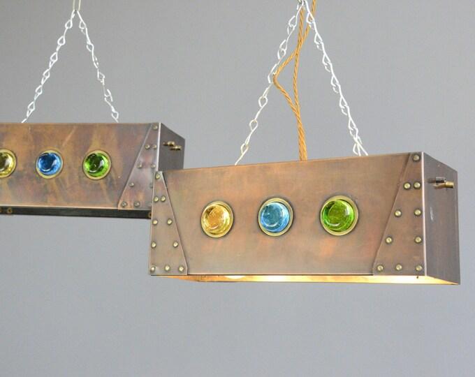 Copper Cafe Light Boxes Circa 1930s