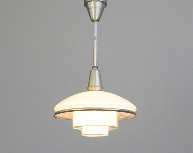 Sistrah Pendant Light By Otto Muller 1930s