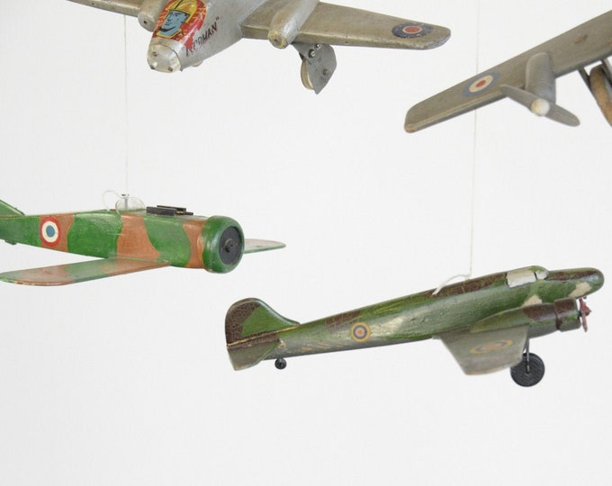 Collection Of WW2 Trench Art Planes Circa 1940s