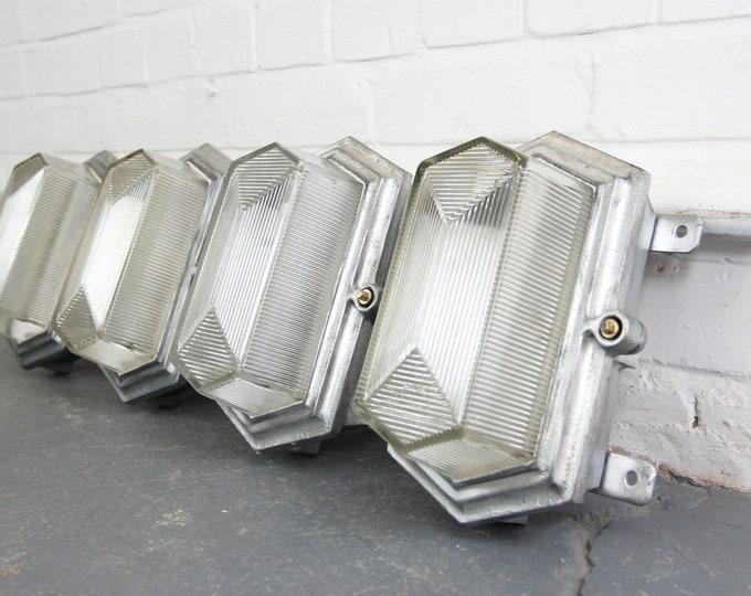 Art Deco Industrial Bulkhead Lights By Maxlume Circa 1930s