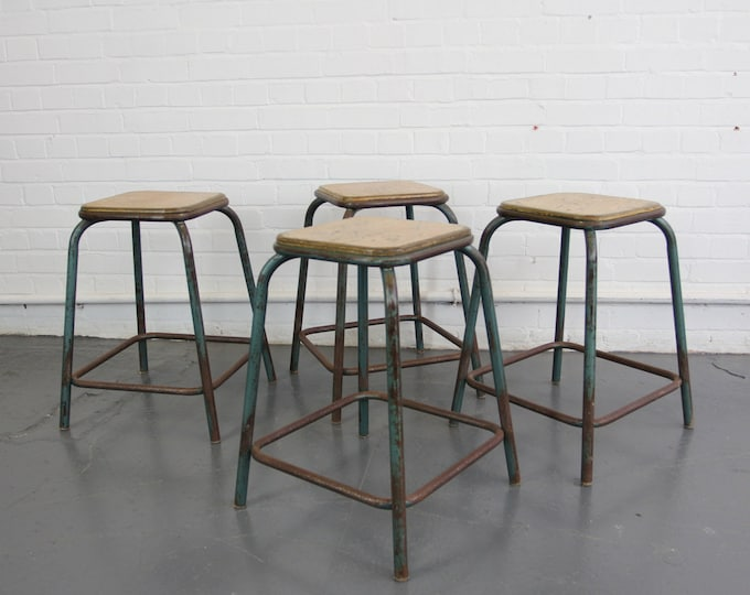 French Industrial Stacking Stool Circa 1950s
