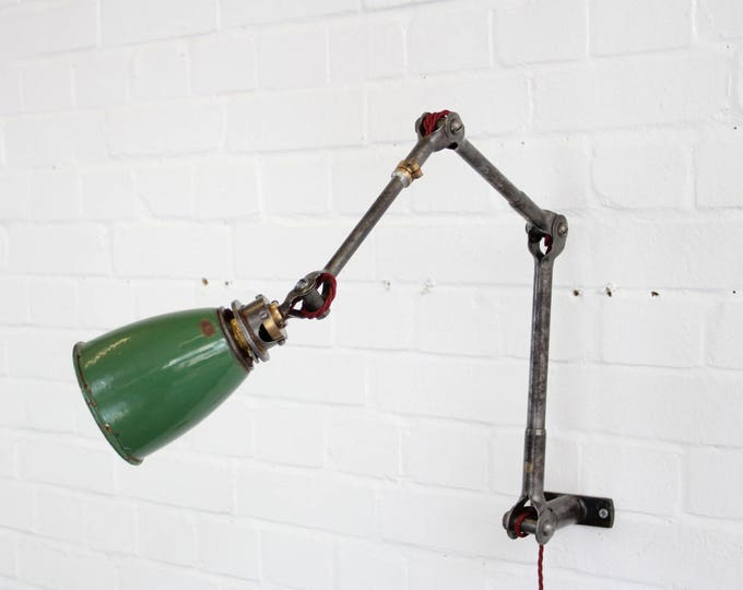 Wall Mounted Industrial Task Lamp By Dugdills Circa 1930s