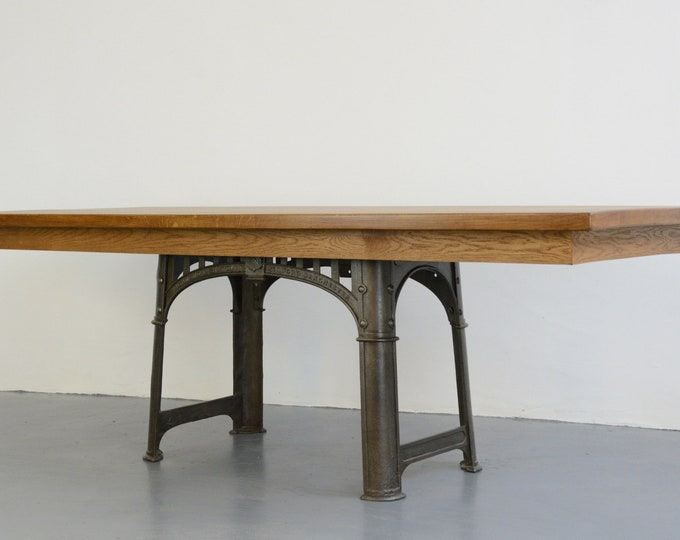 Large Industrial Table By Richmond & Chandler Circa 1910