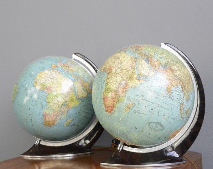 Art Deco Glass Globes Circa 1930s