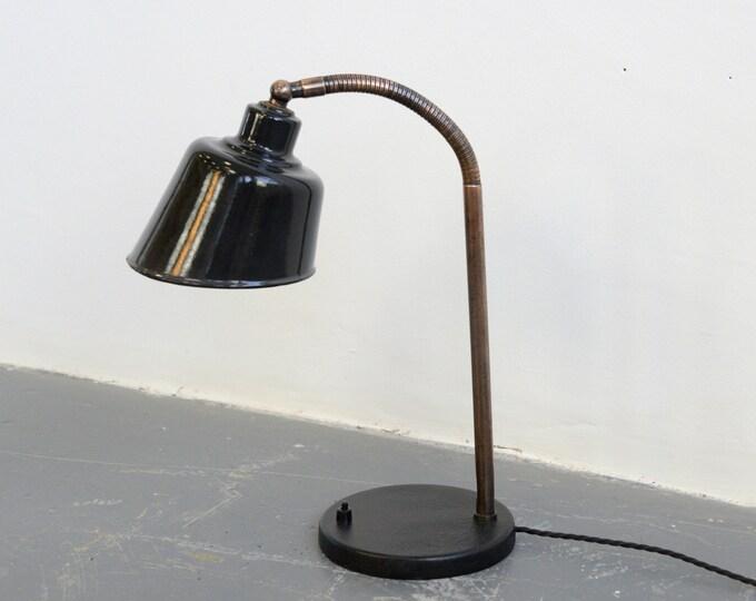 Desk Lamp By Bunte & Remmler BUR Circa 1930s