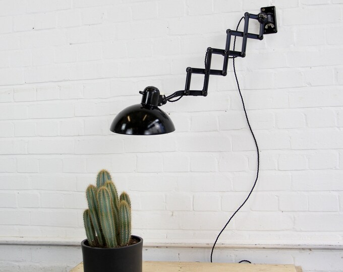 Model 6718 Industrial Scissor Lamp By Kaiser Idell Circa 1940s