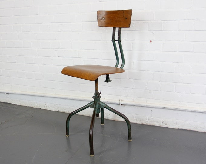 French Industrial Machinists Chair Circa 1950s