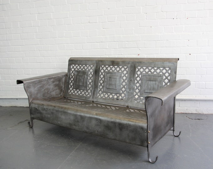 Steel Porch Bench By The Bunting Glider Co Circa 1930s