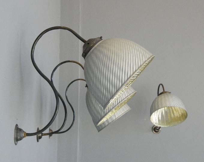 Large Wall Mounted Mercury Lights Circa 1920s