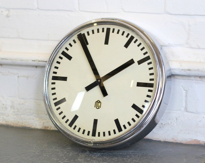 German Factory Clock Circa 1950s