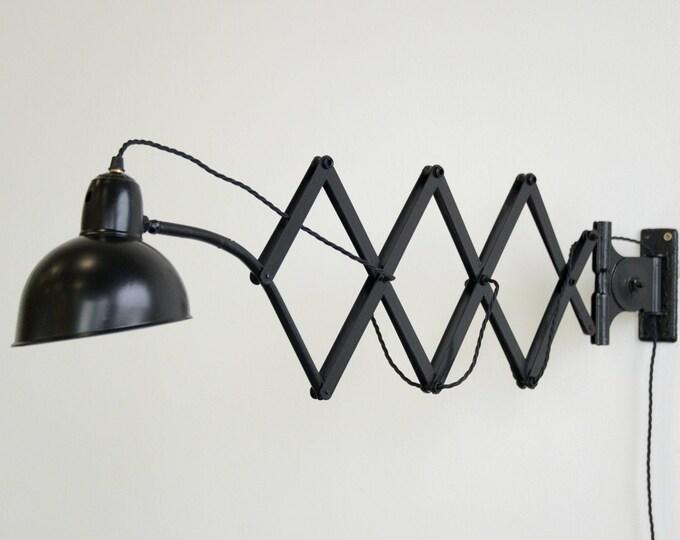 Model 6614 Kaiser Idell Scissor Lamp Circa 1930s