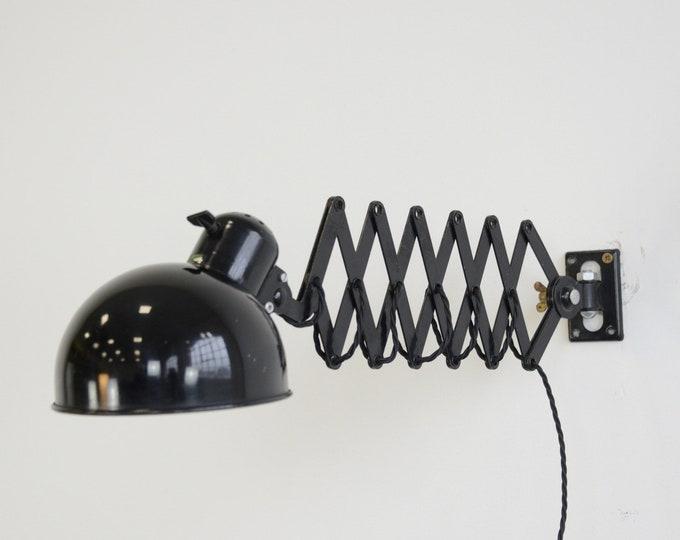 Wall Mounted Scissor Lamp By Koranda Circa 1930s