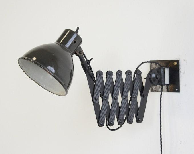 Industrial Scissor Lamp By Rech Circa 1940s
