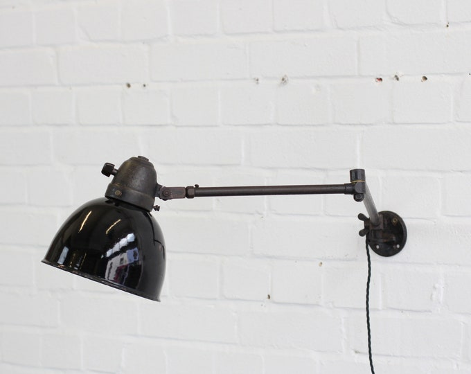 Swing Out Modernist Industrial Lamp By Peter Pfisterer Circa 1930s