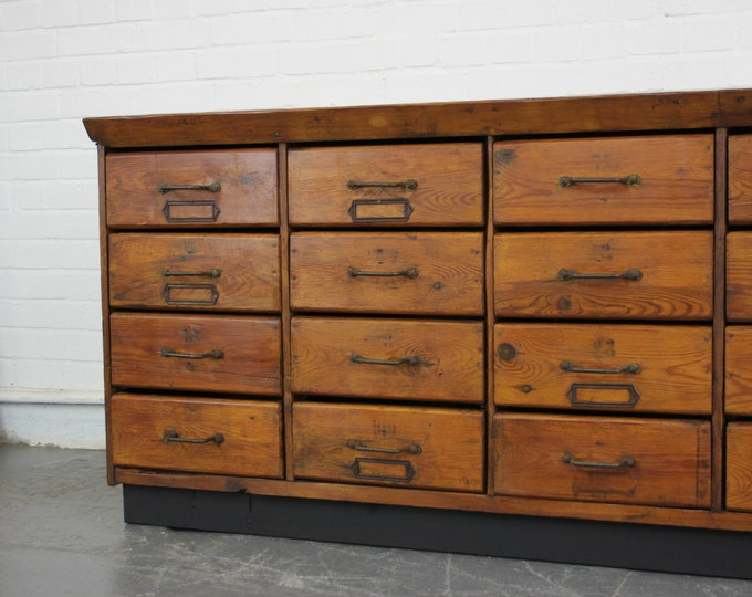 Early 20th Century Hardware Shop Drawers Circa 1910
