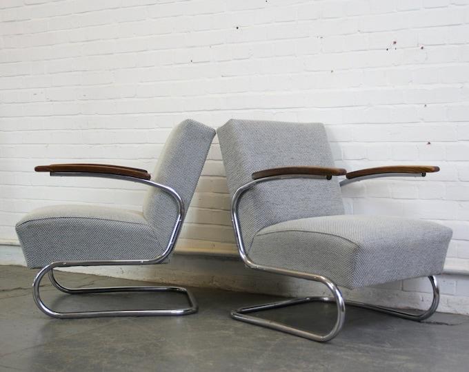 Model S411 Bauhaus Armchairs By Thonet Circa 1930s